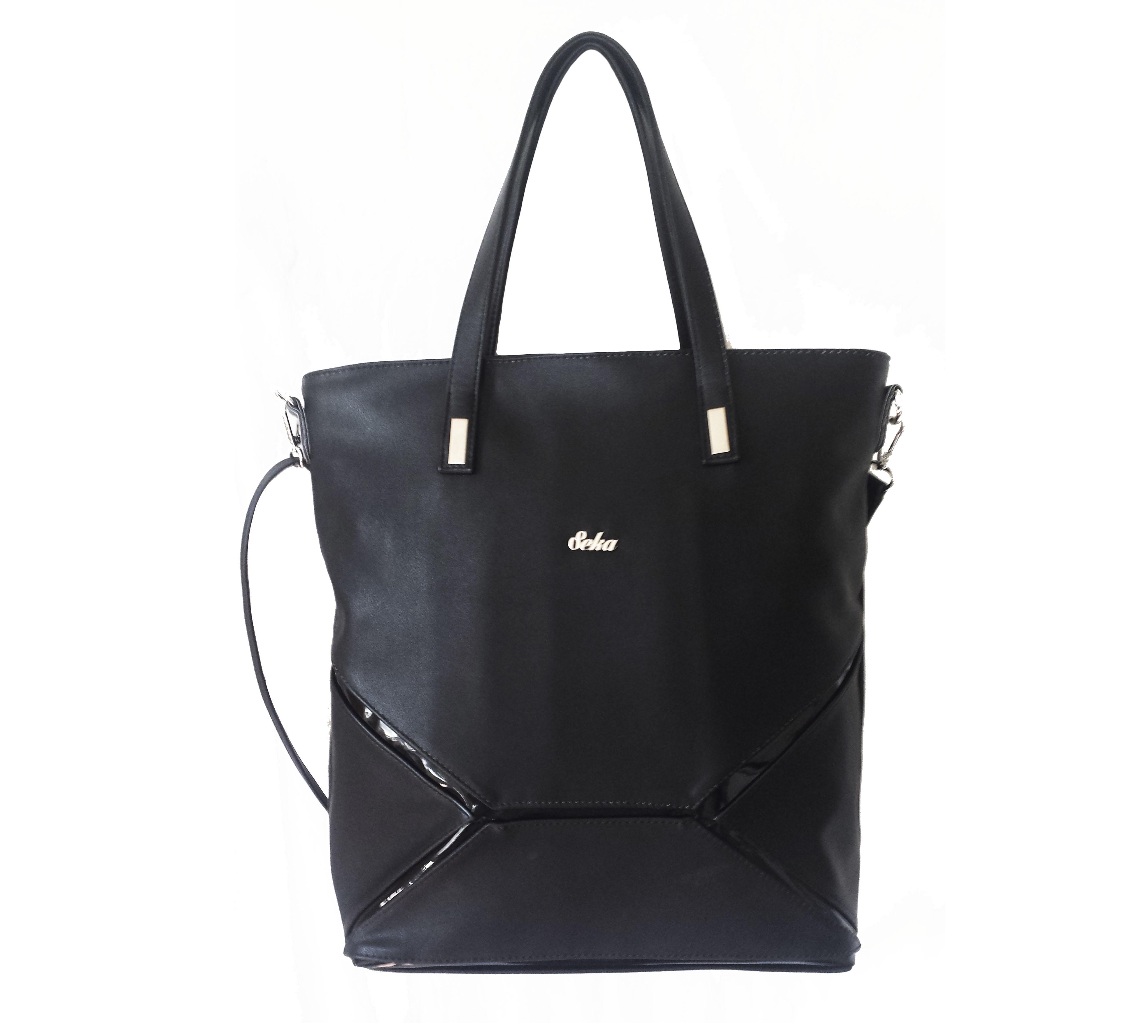 342dcecfa043 Elegantní velká kabelka černá značky Seka