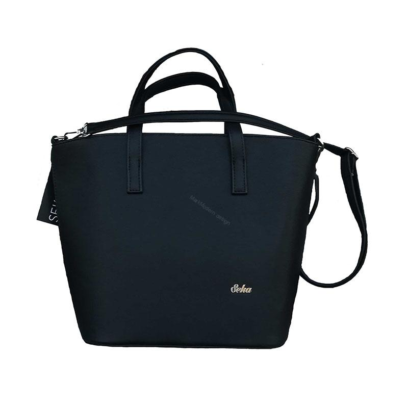 1561f3beae0 Elegantní dámská kabelka černá značky Seka