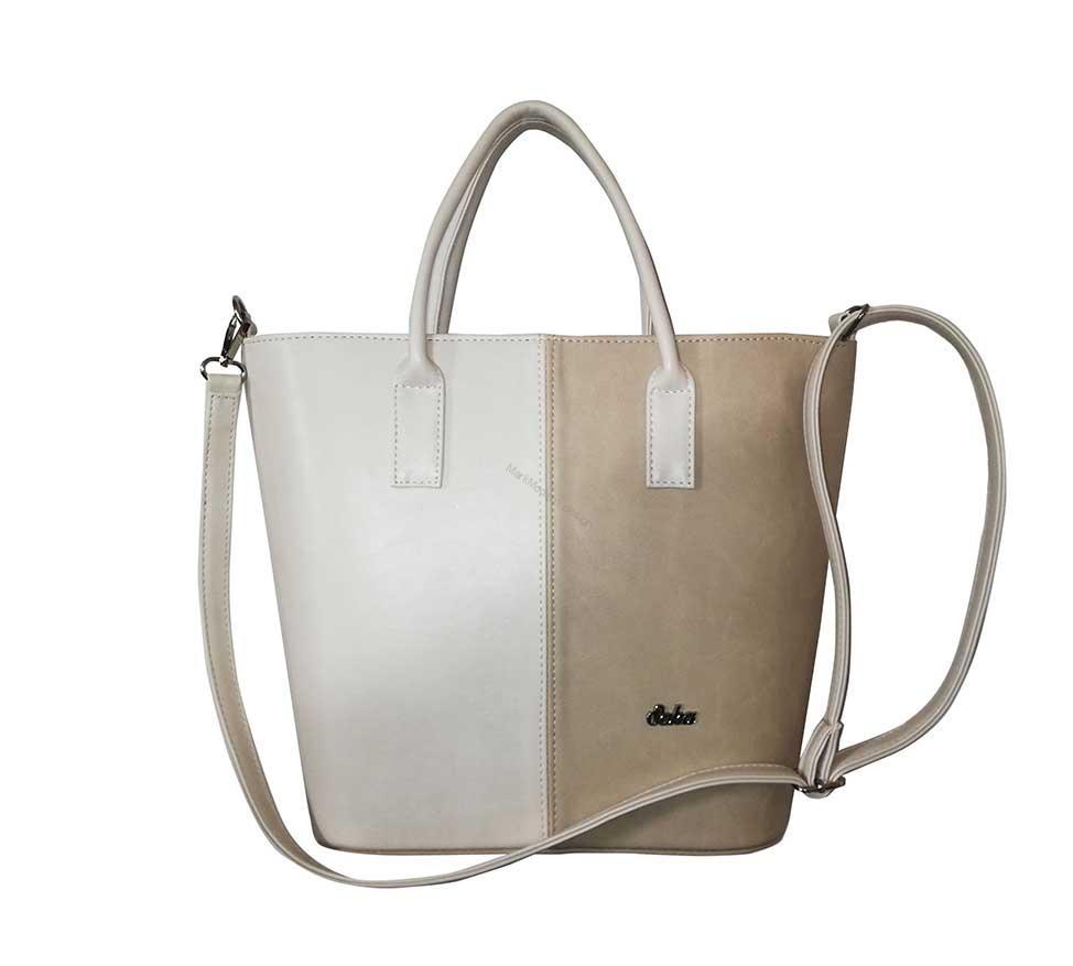 0c615bff0494 Elegantní dámská kabelka béžová značky Seka